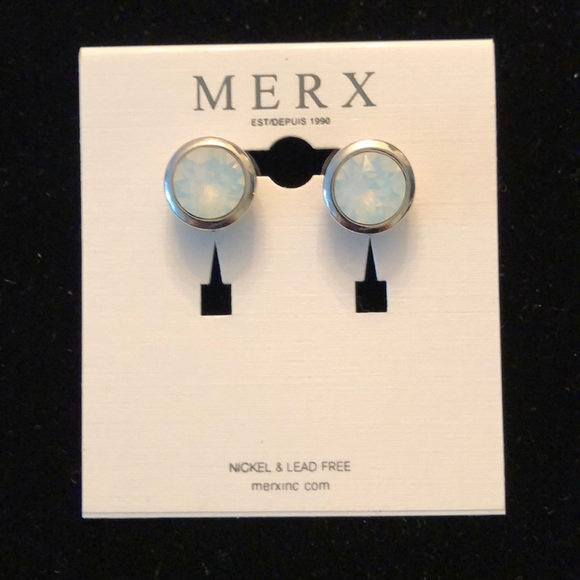 Merx Jewelry - Merx White stud earrings
